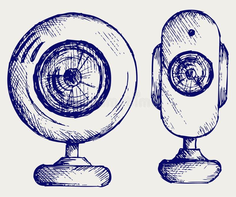 Webcam deux illustration de vecteur