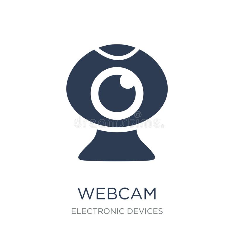 Webcam icon. Trendy flat vector Webcam icon on white background royalty free illustration