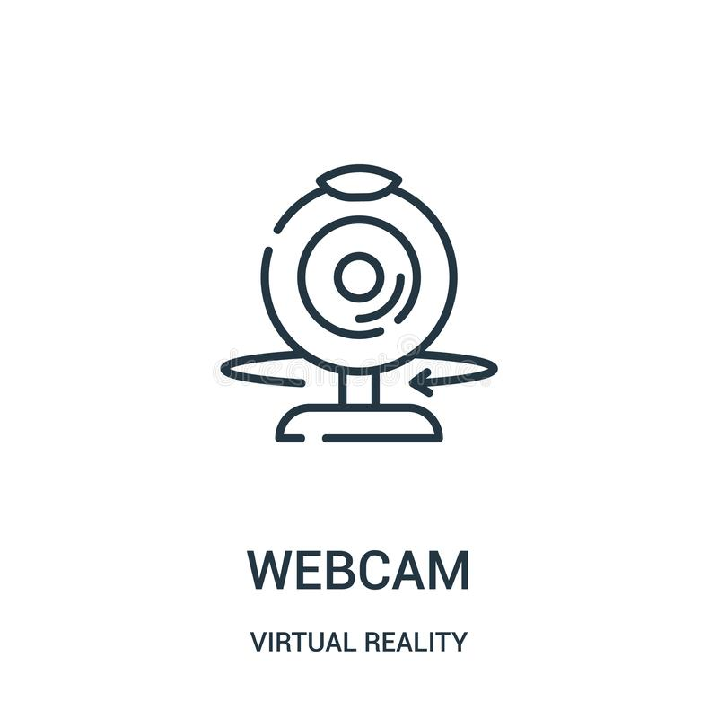 webcam icon vector from virtual reality collection. Thin line webcam outline icon vector illustration stock illustration