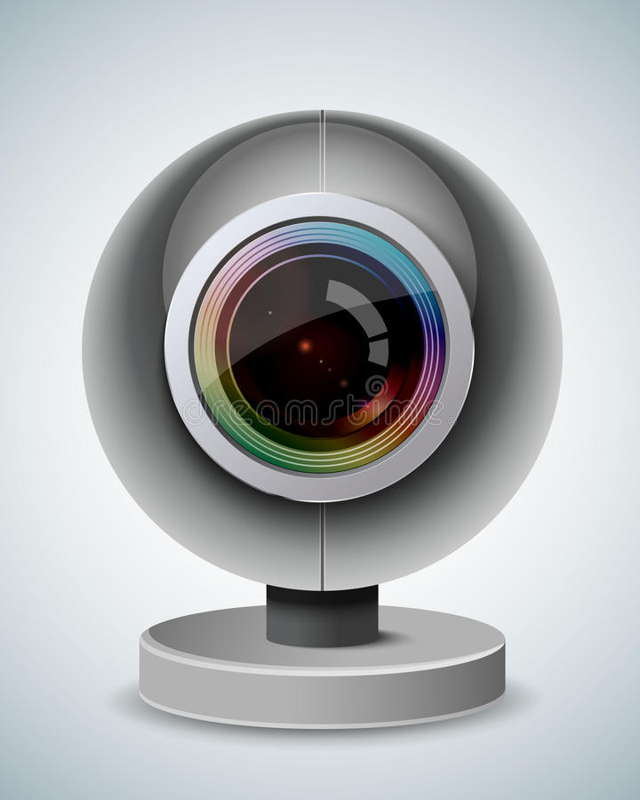 Webcam stock illustration