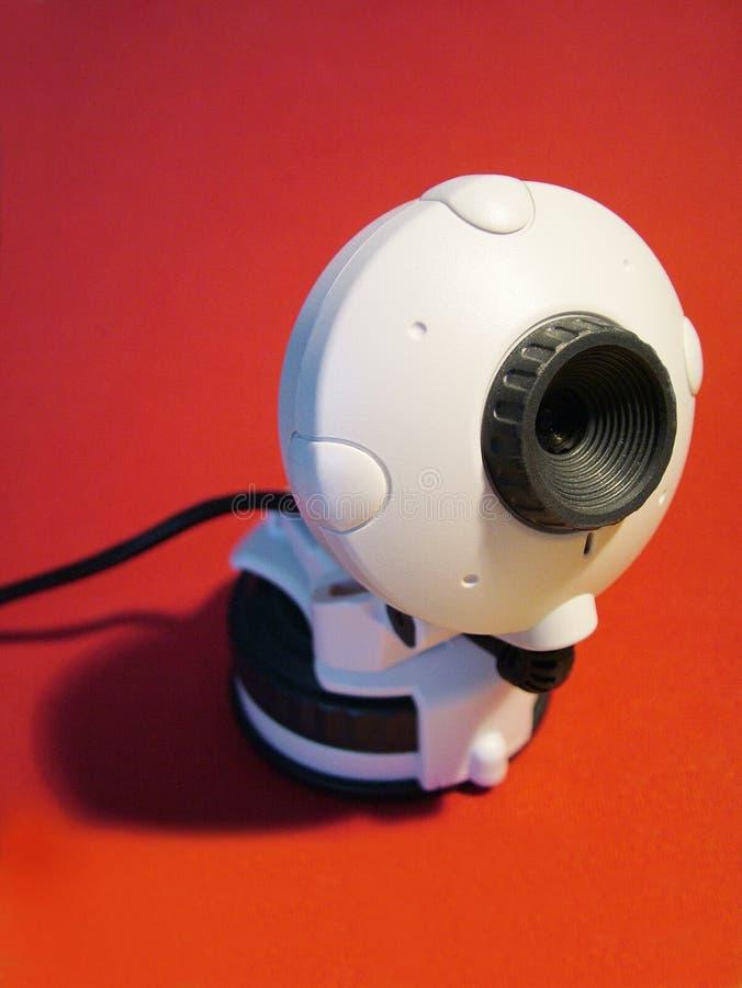 Webcam Sur Le Rouge Images libres de droits