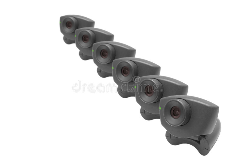 Download Webcams in a row stock image. Image of capture, electronics - 187509