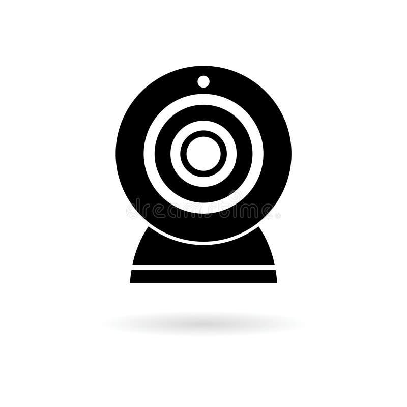 Webcamteckensymbol vektor illustrationer