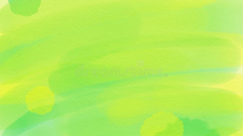 webdesign的令人敬畏的抽象水彩绿色背景,五颜六色的背景,被弄脏,墙纸 皇族释放例证