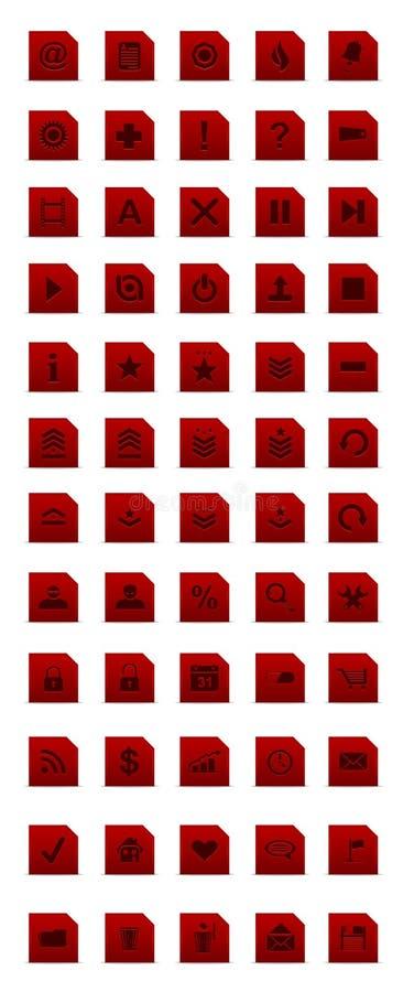 webdesign красного цвета иконы установленное просто стоковое фото rf
