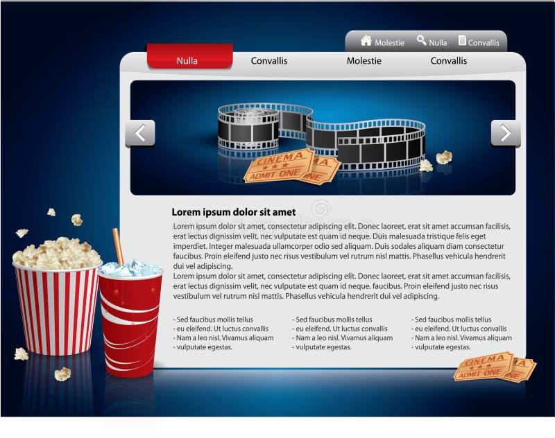 webdesign темы шаблона кино иллюстрация вектора