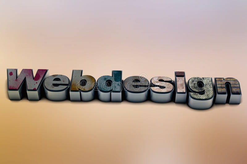Webdesign. Illustration of a Webdesign letter stock illustration