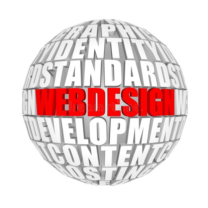 Webdesign stock illustratie
