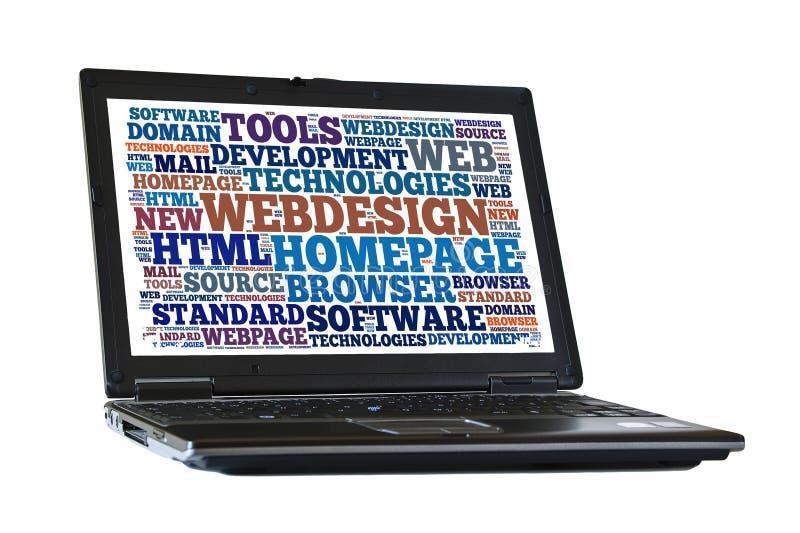 Webdesign royaltyfri bild