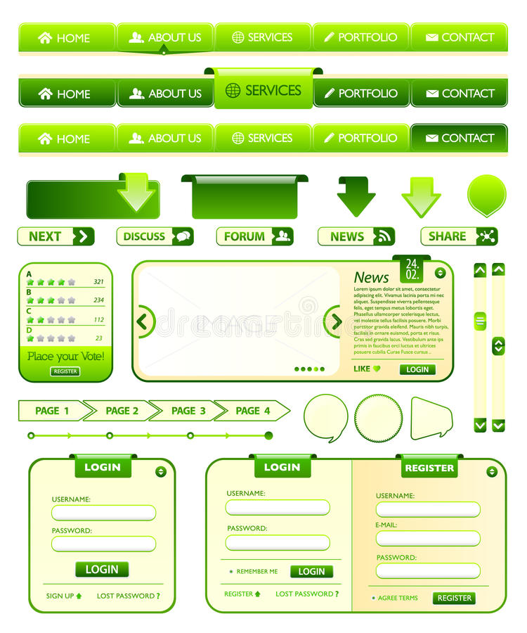 Download Webdesign Elements Collection Stock Illustration - Image: 15930090