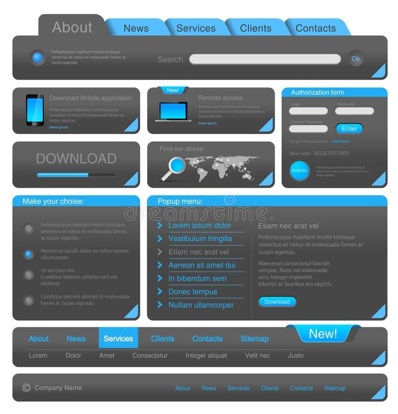 Webdesign Elementsatz stock abbildung