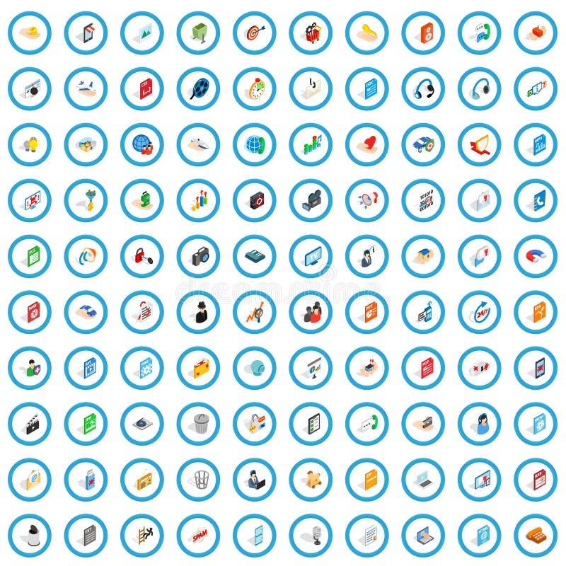100 webdesign icons set, isometric 3d style. 100 webdesign icons set in isometric 3d style for any design vector illustration stock illustration