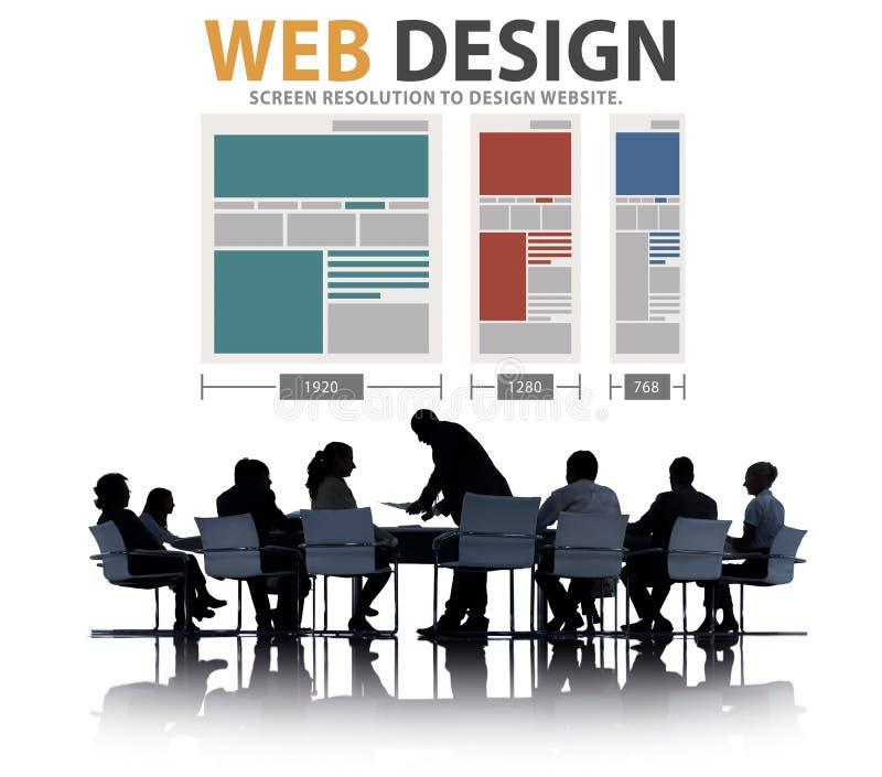 Webdesign-Netz-Website-Ideen-Medieninformations-Konzept lizenzfreie stockfotos