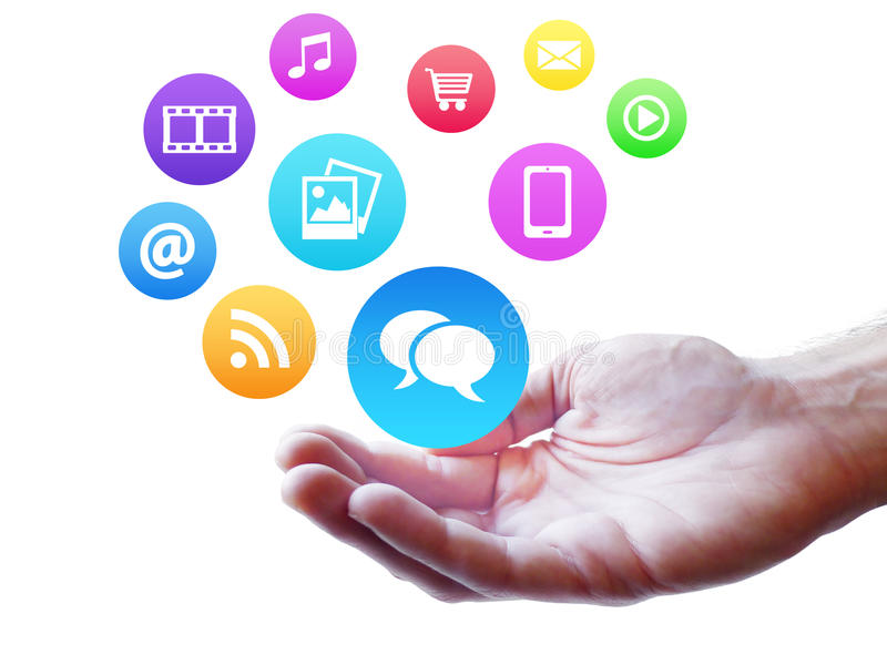 Webdesign socialt massmedia och internetbegrepp fotografering för bildbyråer