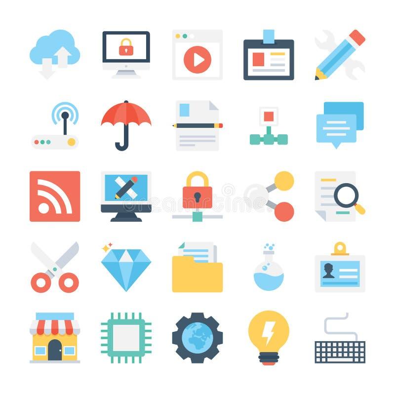 Webdesign-und Entwicklungs-Vektor-Ikonen 6 lizenzfreie abbildung