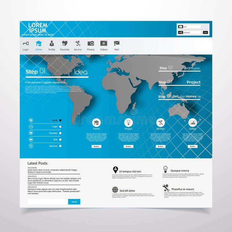 Webdesignelemente. Schablonen für Website. vektor abbildung