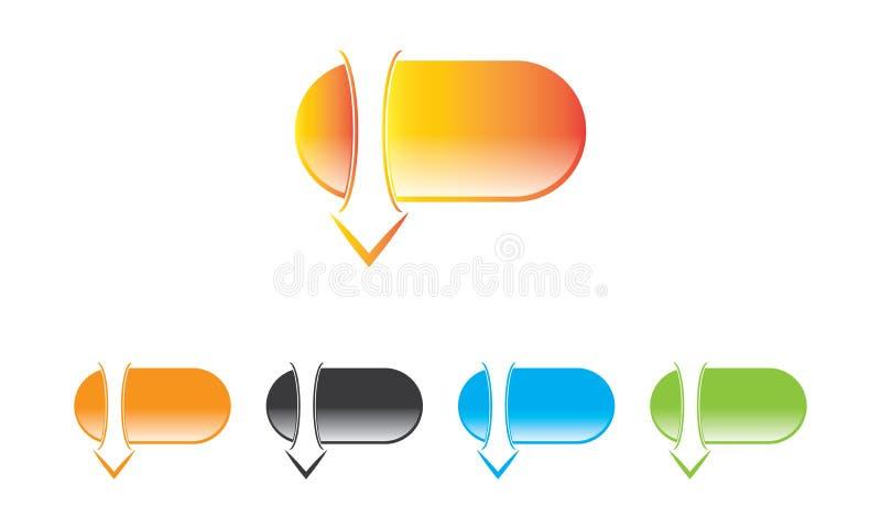 Webdownload Logo Template - het Pictogram van de Webdownload - het Symbool Nieuwe Verse Logotype van de Webdownload stock illustratie