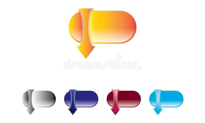 Webdownload Logo Template - het Pictogram van de Webdownload - het Symbool Nieuwe Verse Logotype van de Webdownload royalty-vrije illustratie