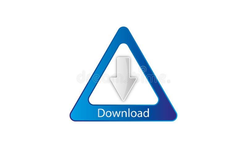Webdownload Logo Template - het Pictogram van de Webdownload - het Symbool Nieuwe Verse Logotype van de Webdownload vector illustratie