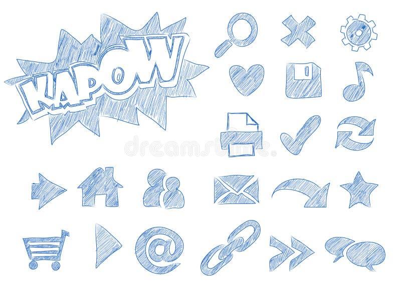 Webicons esquissés illustration stock