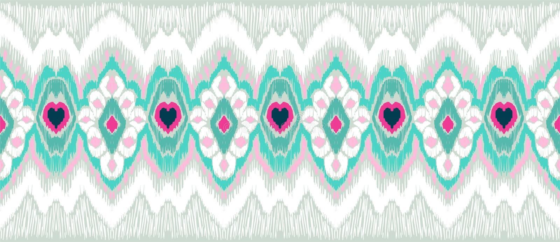 WebIkat几何民间传说装饰品 部族种族传染媒介纹理 在阿兹台克样式的无缝的条纹图形 向量例证