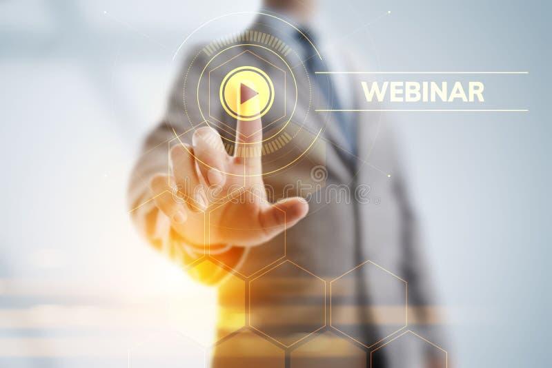 Webinar E-learning Online Seminar Education Business concept. stock photography