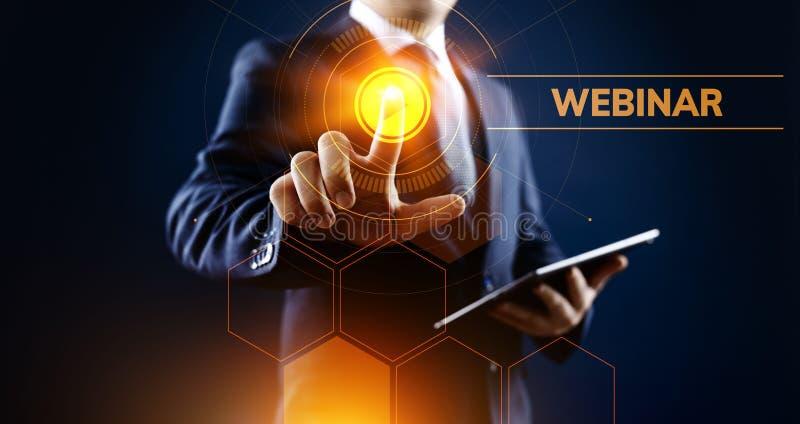Webinar E-learning Online Seminar Education Business concept. stock photo