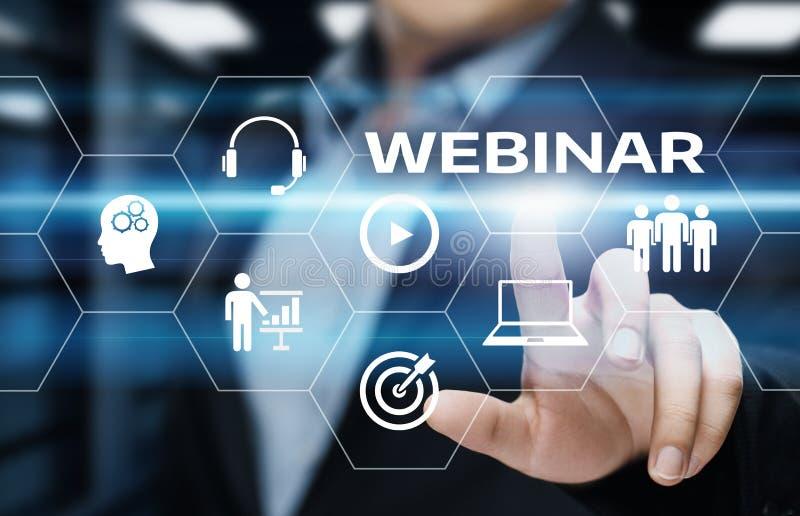 Webinar E-learning Training Business Internet Technology Concept stock images