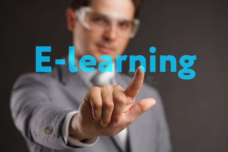 Webinar e-Lerende Opleidings de Commerciële Technologieconcept van Internet royalty-vrije stock afbeelding