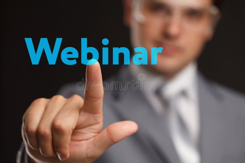Webinar e-Lerende Opleidings de Commerciële Technologieconcept van Internet royalty-vrije stock fotografie