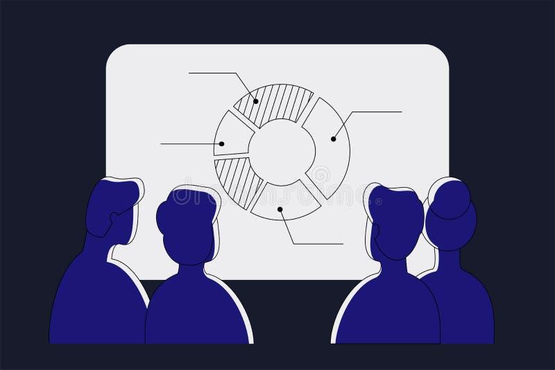 Webinar en línea Educación a distancia Ejemplo del vector de la tecnología ilustración del vector