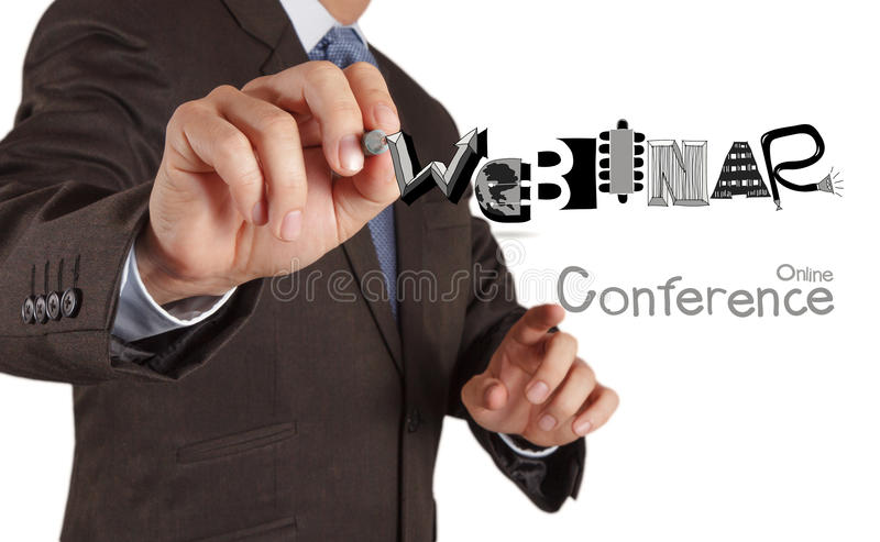 Webinar graphic design word as concept stock photos