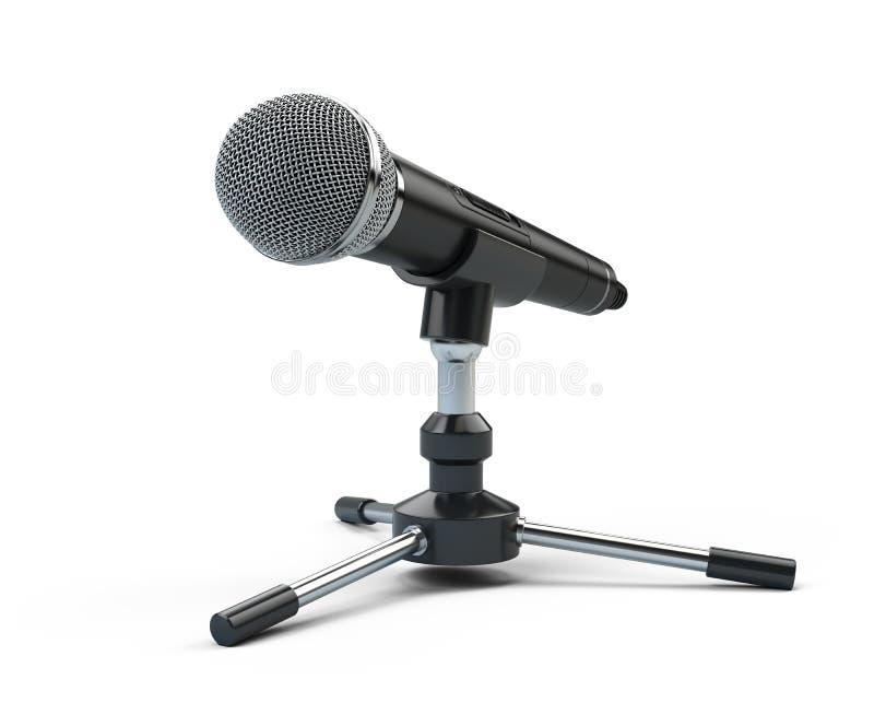 Webinar konferensbegrepp - mikrofon som isoleras på vit vektor illustrationer