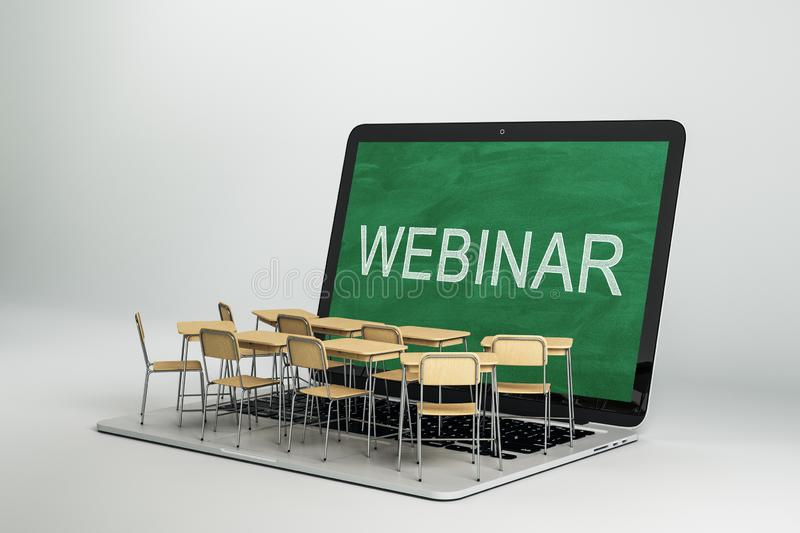 Webinar and online education concept royalty free illustration