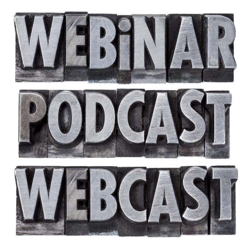 webinar podcastwebcast royaltyfria foton