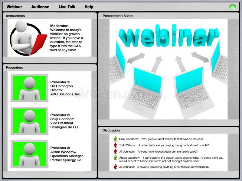 Webinar - tiro de tela da amostra ilustração do vetor