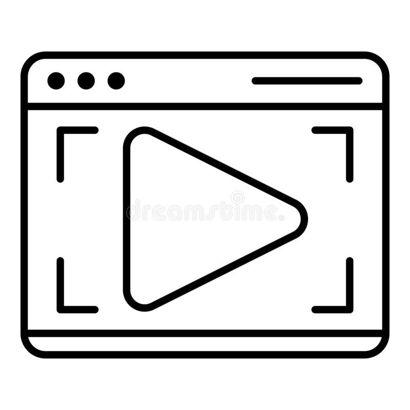 Webinar web page icon, outline style vector illustration