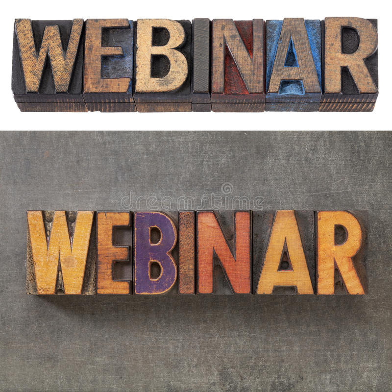 Download Webinar in wood type stock image. Image of printing, grunge - 27700241