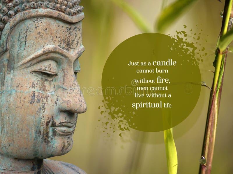 WebJust als Kerze kann nicht ohne Feuer, Männer brennen kann nicht ohne ein geistiges Leben leben lizenzfreie stockfotos
