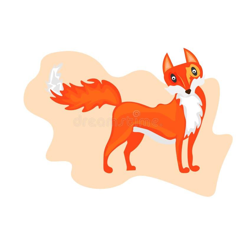 Weblustration die een leuk rood vosbeeldverhaal afschilderen EPS 10 vector stock illustratie