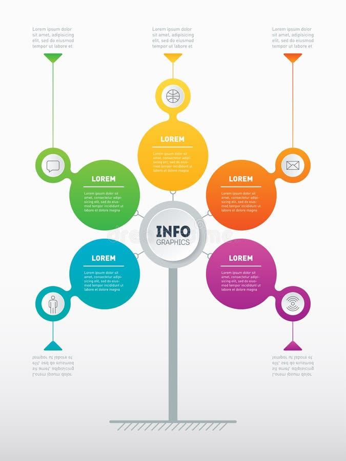 Webmalplaatje van een de dienstboom, informatiegrafiek, diagram of presentat vector illustratie