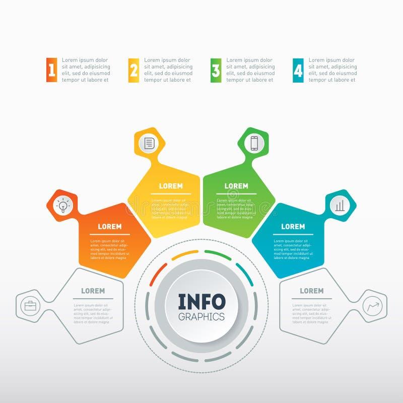 Webmalplaatje van een grafische grafiek, informatie, mindmap of diagram Busin royalty-vrije illustratie
