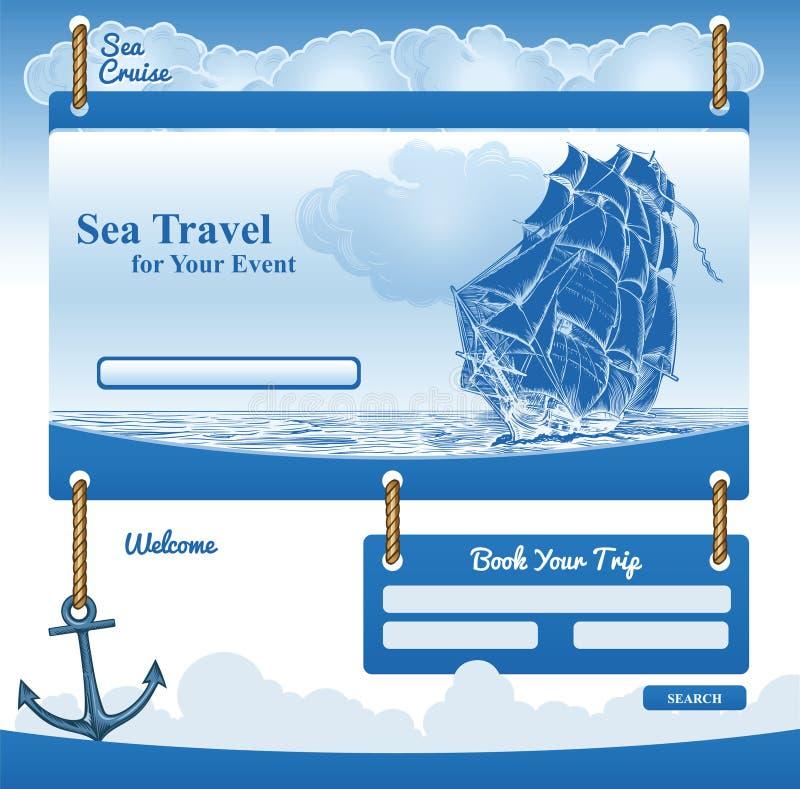 Webmalplaatje voor Overzees Cruisethema vector illustratie