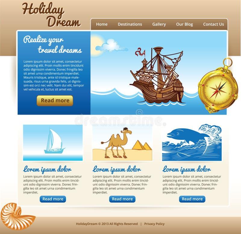 Webmalplaatje voor reisplaats royalty-vrije illustratie