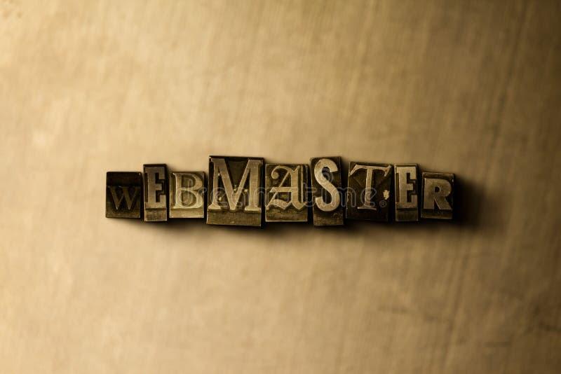WEBMASTER - primo piano della parola composta annata grungy sul contesto del metallo royalty illustrazione gratis