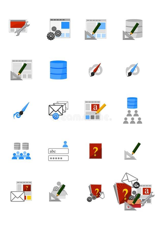 Webmedia pictogrammen stock afbeelding