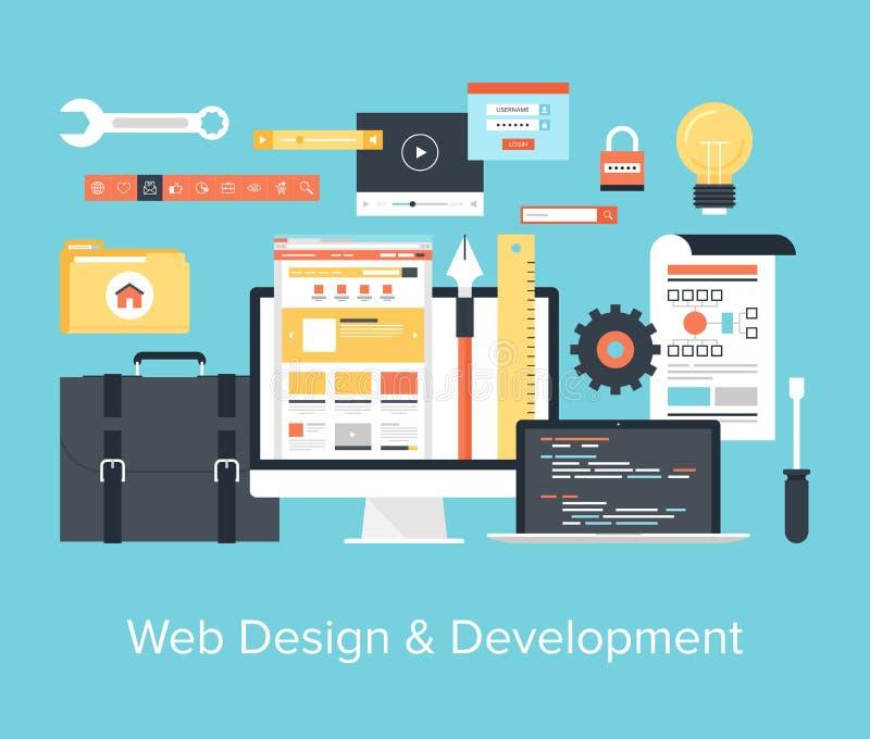 Webontwerp en Ontwikkeling royalty-vrije illustratie