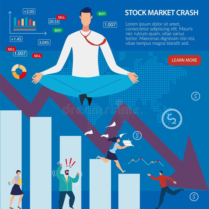 Webpage Banner Give Info about Stock Market Crash. Webpage Banner Give More Information about Stock Market Crash. Digital Graphs and Charts, Data Analytical stock illustration