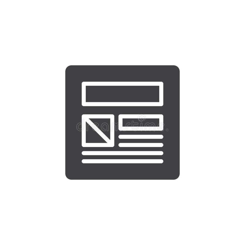Webpage bloggvektorsymbol vektor illustrationer