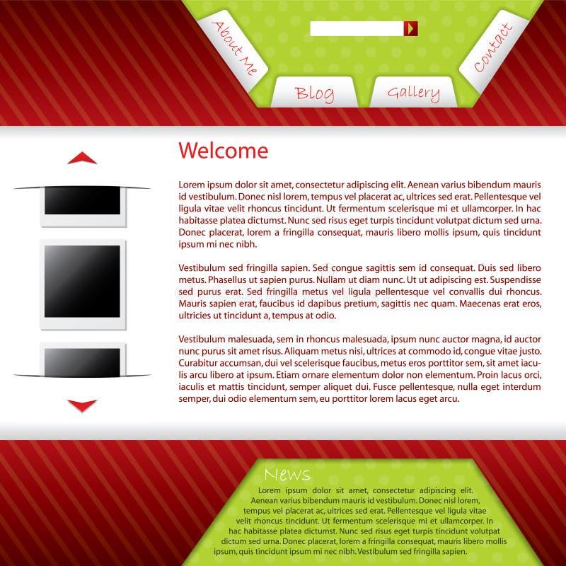 Webpage design for blog royalty free illustration